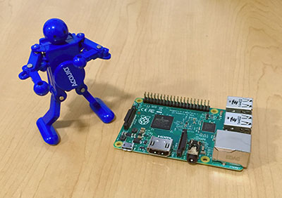 Raspberry Pi and Acquia dancing man
