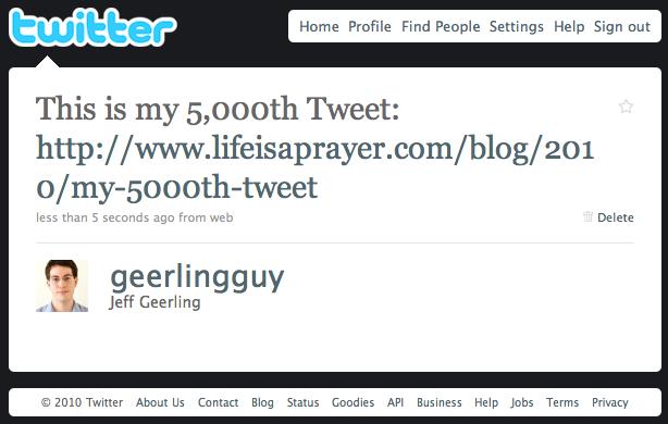 5000th tweet by geerlingguy
