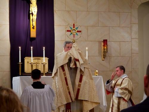 Archbishop Robert J. Carlson closes Eucharistic Adoration at Spirit and Truth.