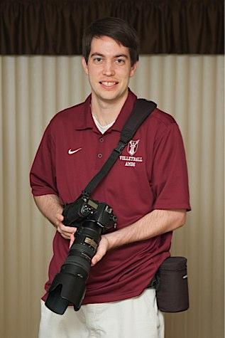 Jeff Geerling with Nikon camera gear shooting