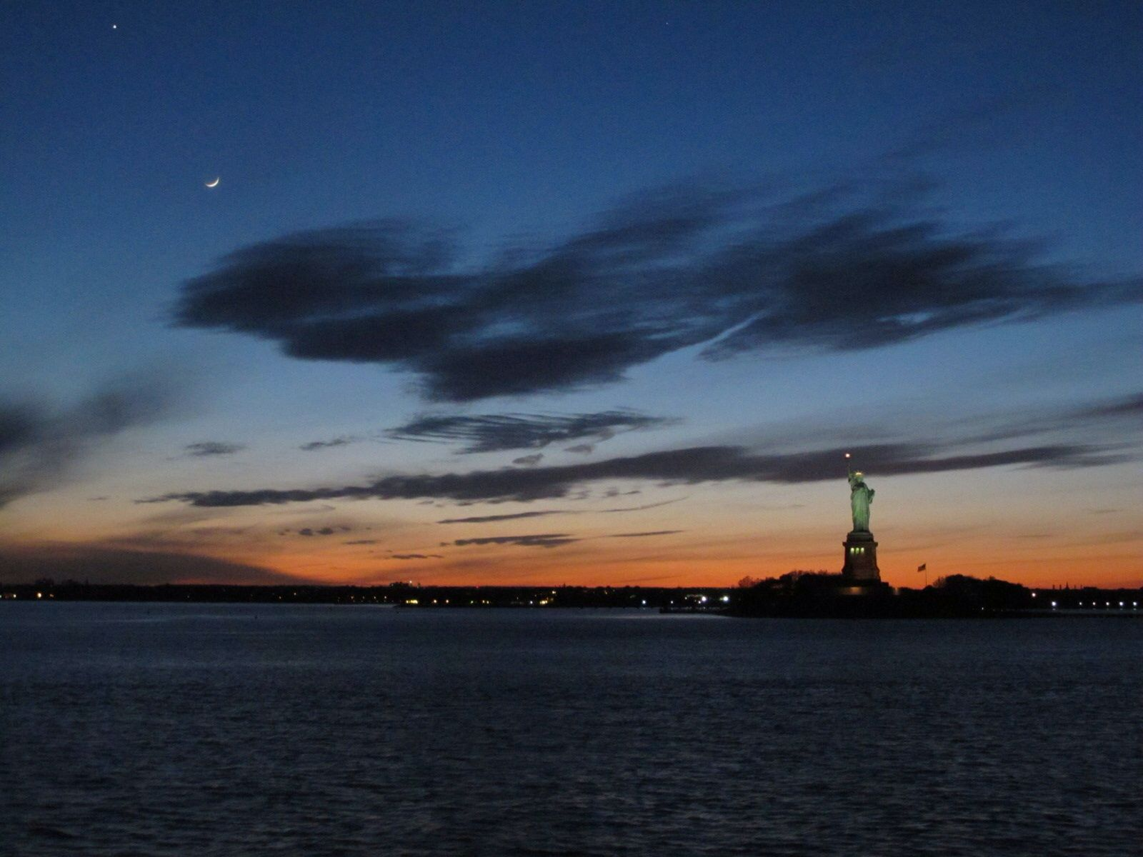 Statue of Liberty at Dusk - Sunset
