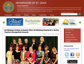 Archdiocese of St. Louis - Screenshot