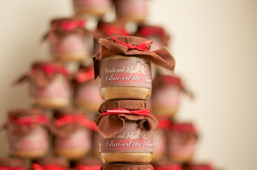 Chai Tea Baby Bottle Wedding Favors - Pyramid