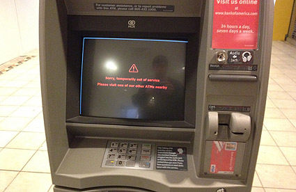 Crestwood Mall - ATM out of order