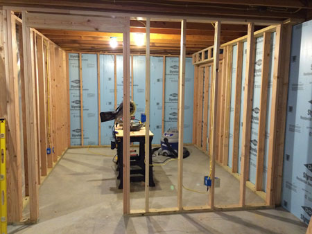 Doorway - Basement Home Office Framing