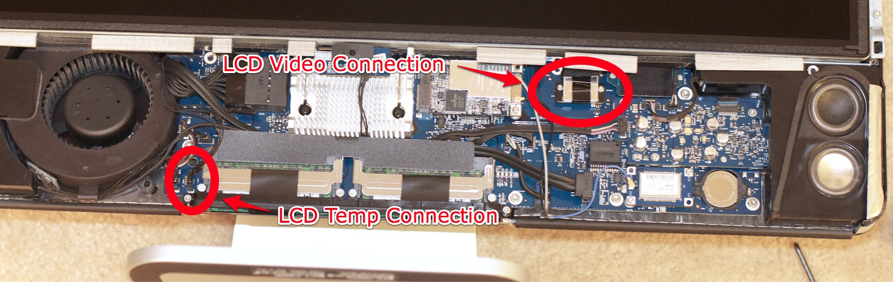 iMac LCD Display Connections - to Disconnect