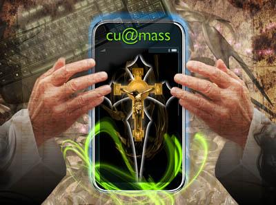 CUatMass - Faith and Technology Illustration by Lisa Johnston