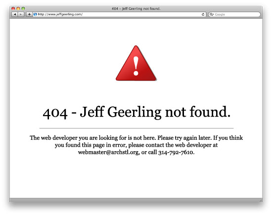 404 - Jeff Geerling not found.