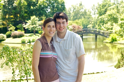Jeff and Natalie at the Botanical Gardens