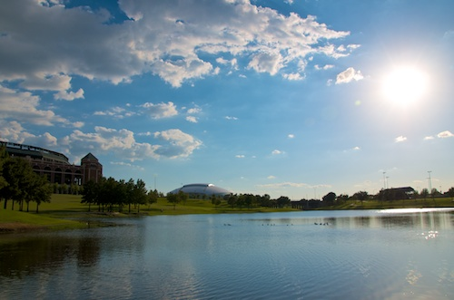 Lake at CNMC with Sports Arenas