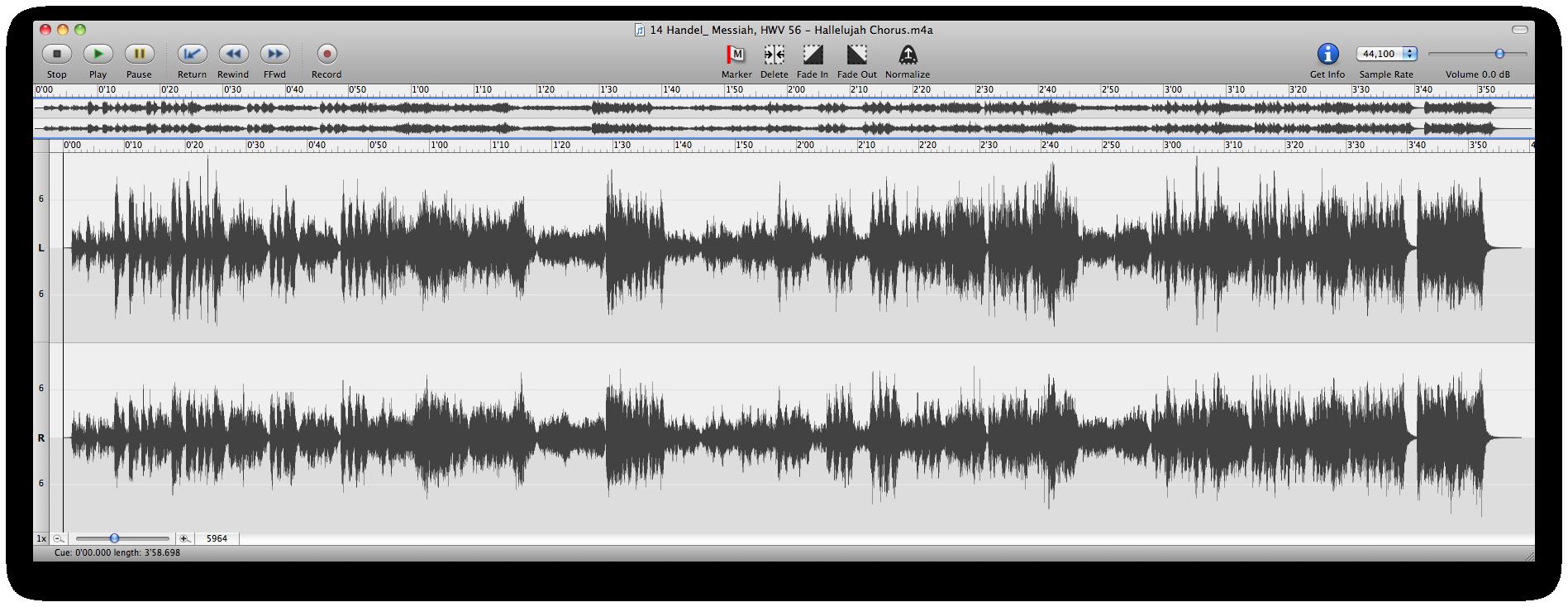 Handel's Messiah - Waveform
