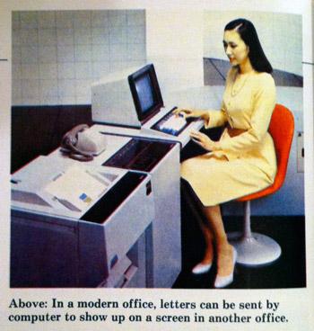Modern office computer