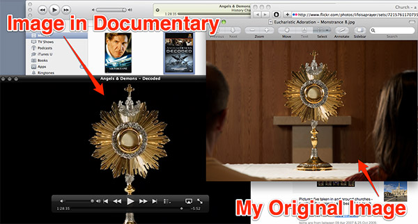 Monstrance Image in Angels & Demons Decoded