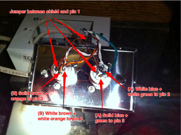 Nave XLR Cat5e Wiring