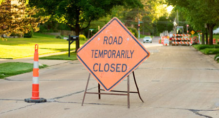 Road Sign #2: Road Temporarily Closed