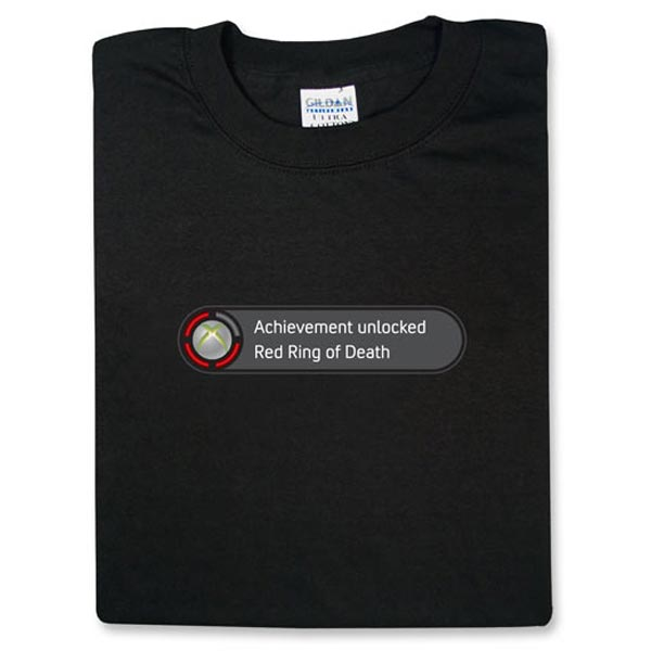 Achievement Unlocked - Red Ring of Death (Xbox 360 T-Shirt)