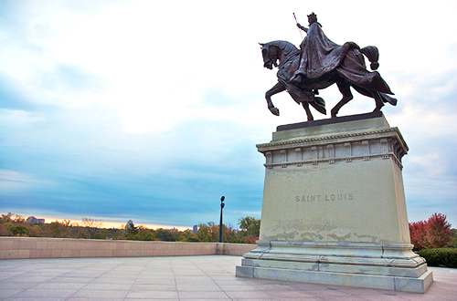 Saint Louis IX, King of France - Photo from Art Hill, by Jeff Geerling