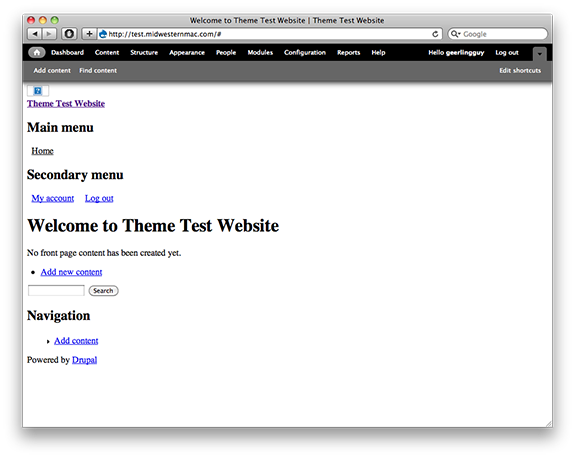 Naked and Unstyled Drupal 7 HTML