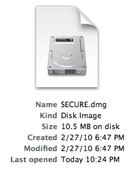 Secure Disk Image