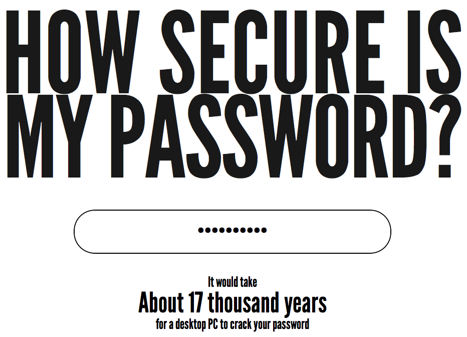 How secure is your password?