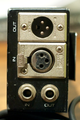 Shure FP12 - Bottom with XLR and TRS mic inputs