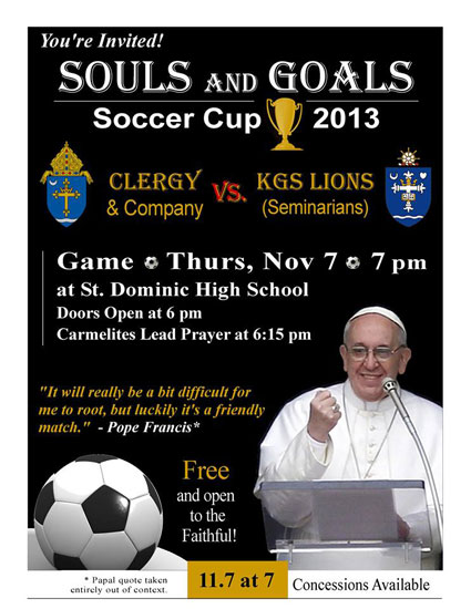 KGS Priests Souls and Goals soccer match