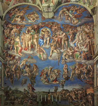 The Last Judgement - Behind the Altar in the Sistine Chapel - Michaelangelo - The Vatican