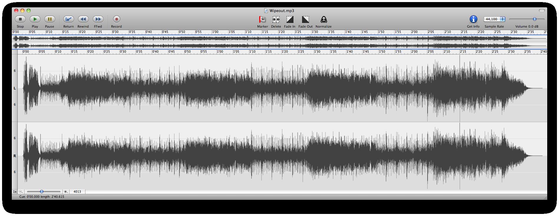 Wipeout Sound File Waveform
