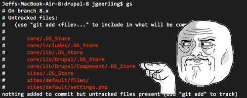 Pesky .DS_Store Files in Terminal during Git Status