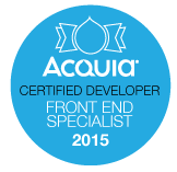 Acquia Certified Developer - Front End Specialist badge