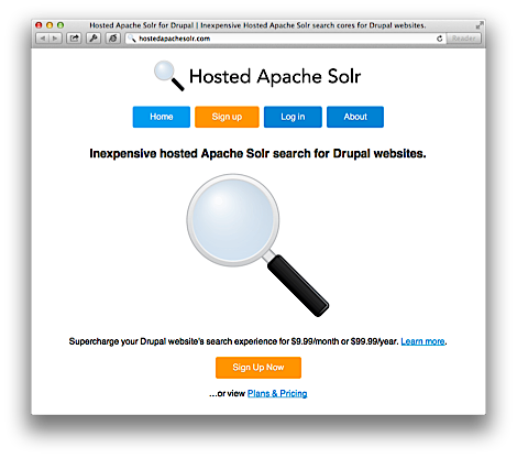 Hosted Apache Solr home page - Drupal 7