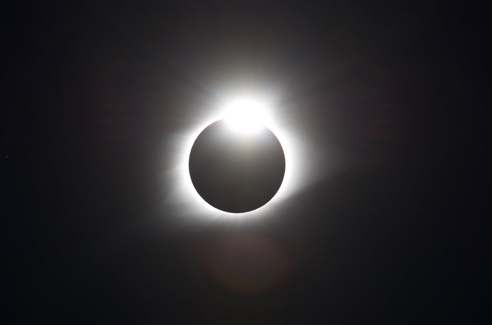 2017 Total Solar Eclipse diamond ring by Jeff Geerling