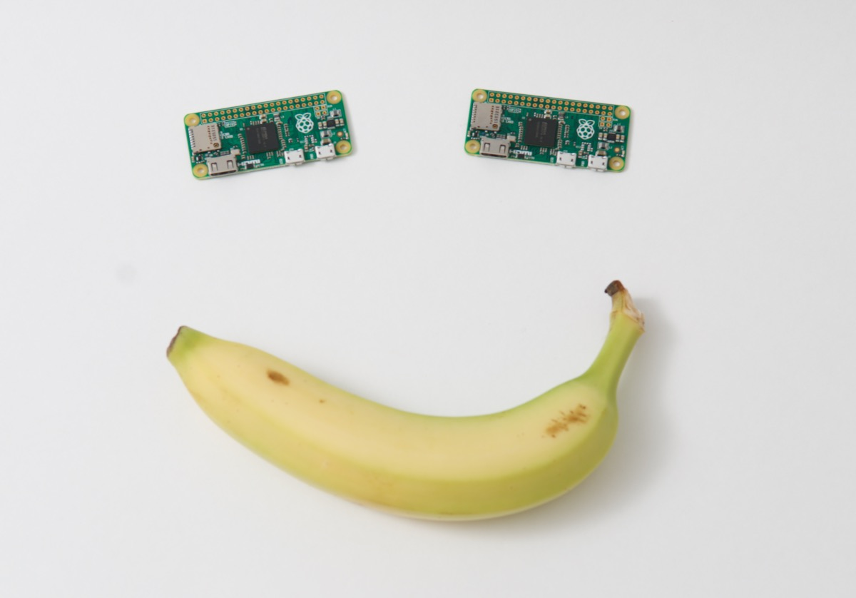 Raspberry Pi Zero Banana Smile Face