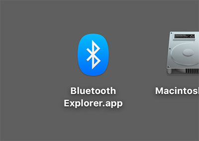 Bluetooth Explorer App for macOS