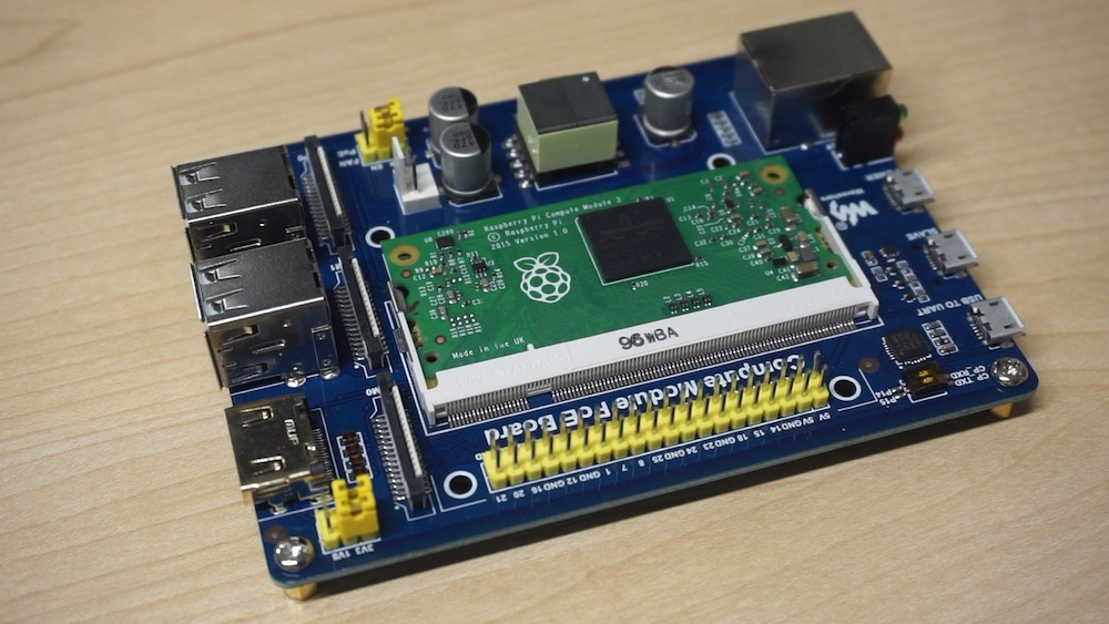 Raspberry Pi Compute Module PoE Board by Waveshare