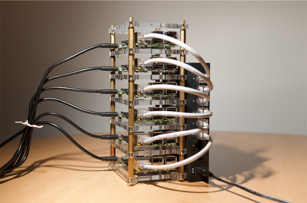 Raspberry Pi Dramble - original 6-node cluster