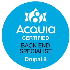 Acquia Certified Back End Specialist - Drupal 8 Exam Badge