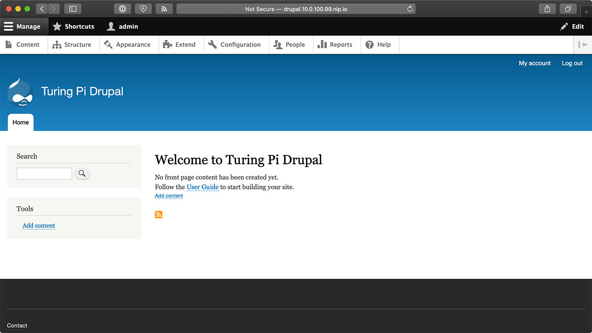 Drupal on the Turing Pi K3s Cluster