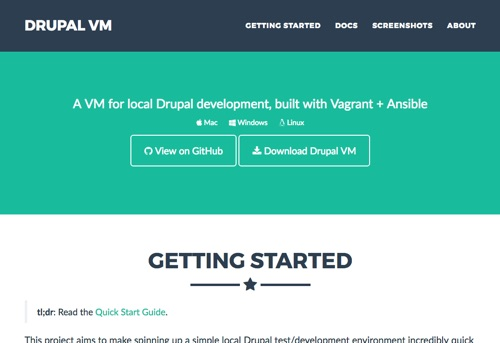 Drupal VM - Website Homepage
