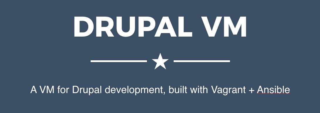 Drupal VM logo and teaser text