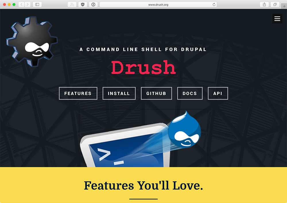 Drush.org homepage