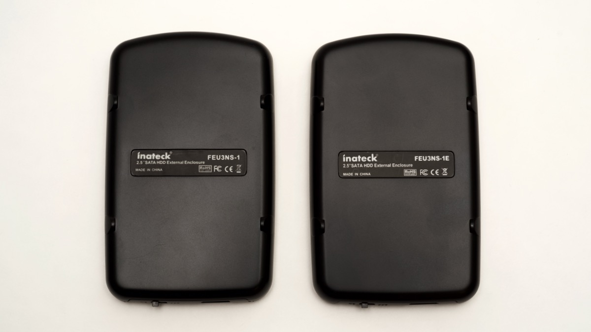 Inateck USB 3.0 SATA case with and without UASP - bottom side
