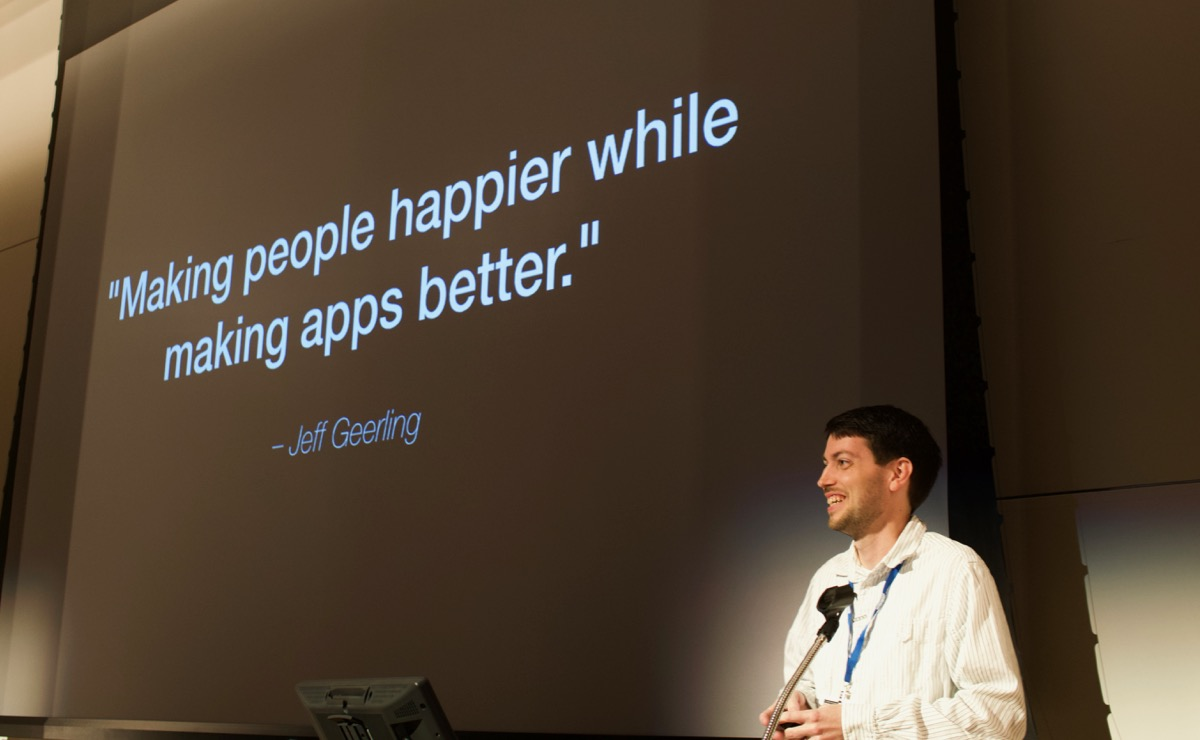 Jeff Geerling's DevOps Definition - Making people happier while making apps better