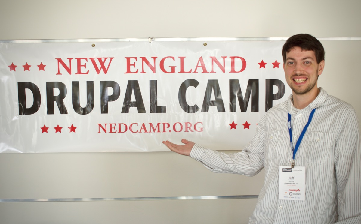 Jeff Geerling at NEDCamp 2018 - New England Drupal Camp