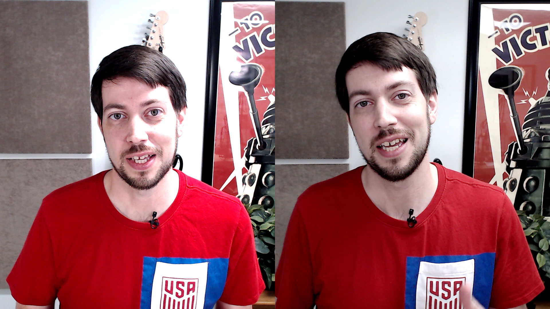 Jeff - Webcam before and after lighting change