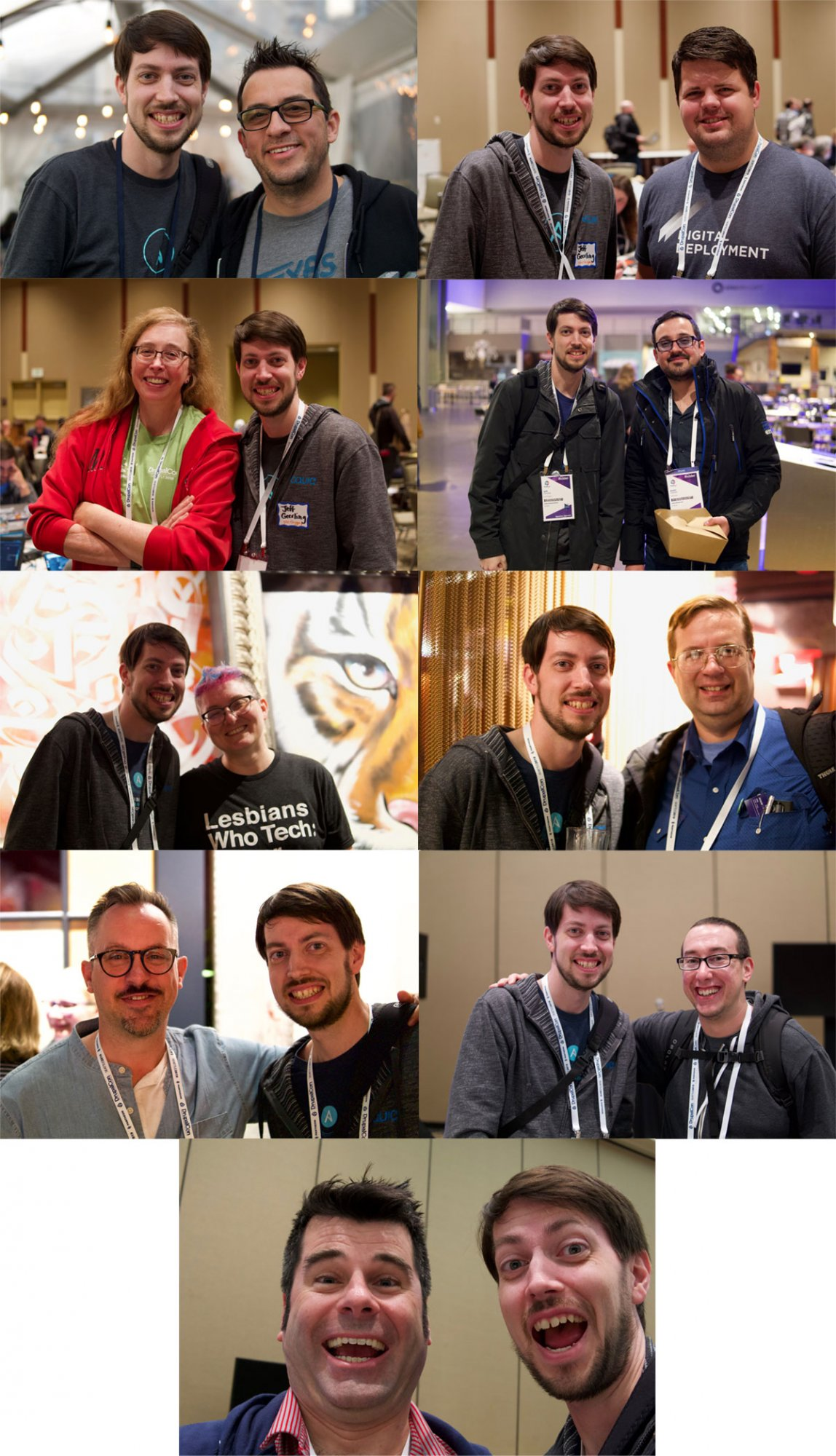 Jeff with People at DrupalCon Seattle 2019