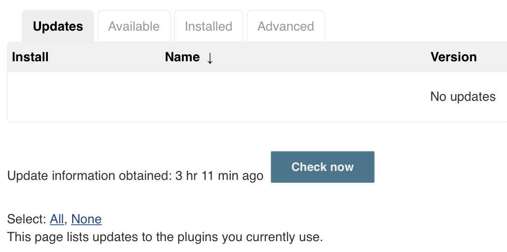 Jenkins plugins - check now for updates