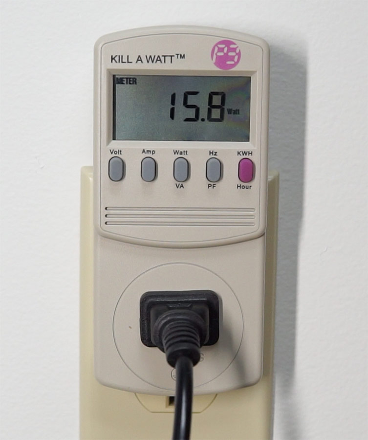 Kill A Watt Power Consumption showing 15.8W at 120V for Turing Pi
