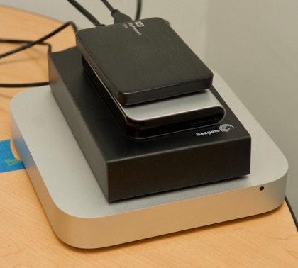 Mid-2011 Mac mini with many external hard drives