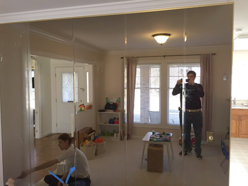 Diy Project Removing Floor To Ceiling Mirrors From A Wall In Our House S Dining Room Jeff Geerling